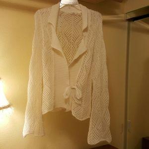 JLO cream lace sweather